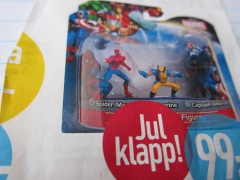 Spiderman trumps toy train set.-Photo by K