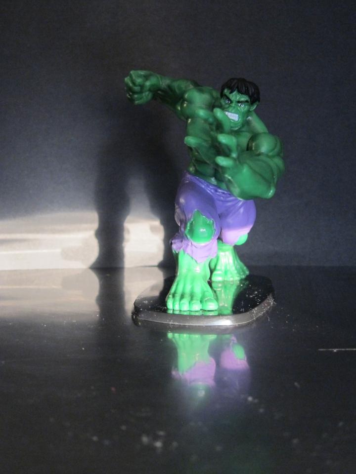 The Incredible Hulk...sans boots...sans friends.