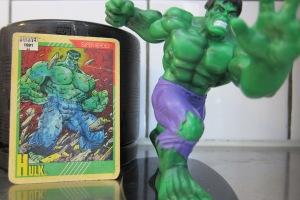 Comic card meets Action figurine.